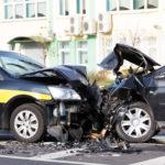 The road Debris causes two car collison