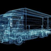 Digital Truck rendering for tech development